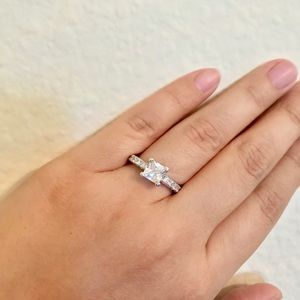Jewelry - S925 Silver Princess Cut Promise Ring